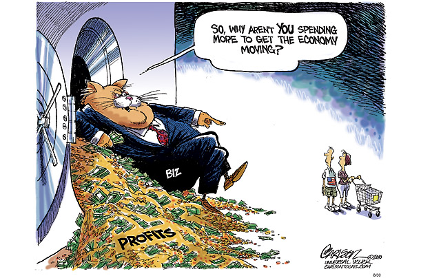 Corporate profits vs consumer cartoon
