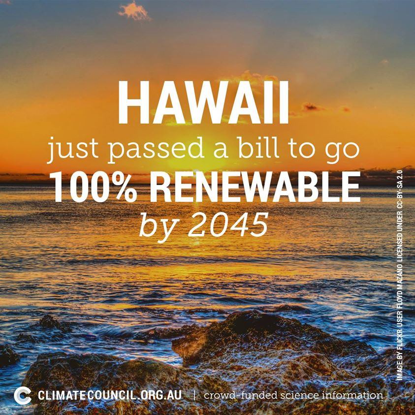 Hawaii goes renewable