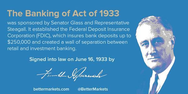 Banking act anniversary